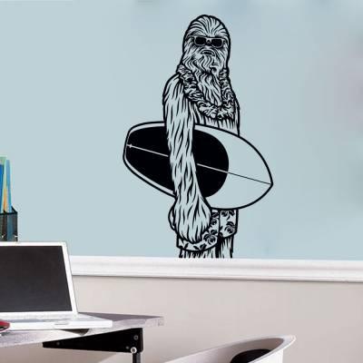 Adesivo de Parede Chewbacca Surfista