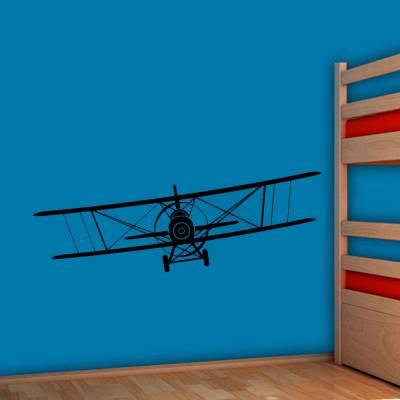 Adesivo De Parede Aviãozinho Teco Teco De Frente