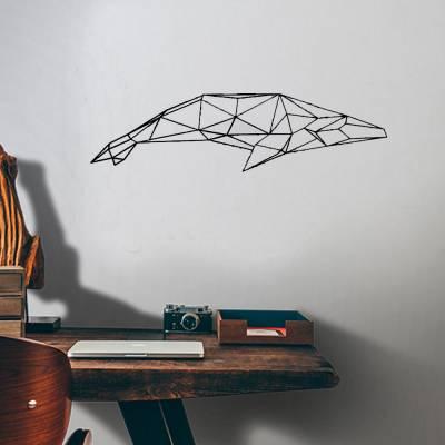 Adesivo De Parede Baleia Em Formas Geométricas