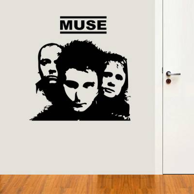 Adesivo de parede Banda Muse