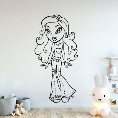 Adesivo De Parede Barbie Desenho Cartoon