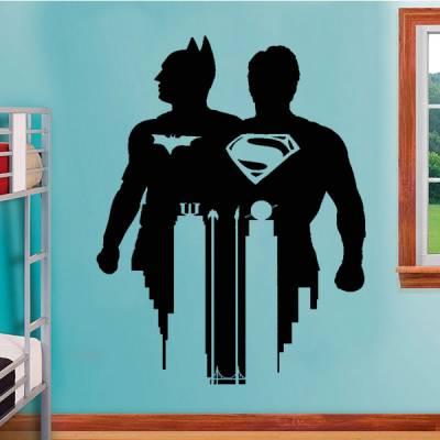 Adesivo de Parede Batman Versus Super Homem