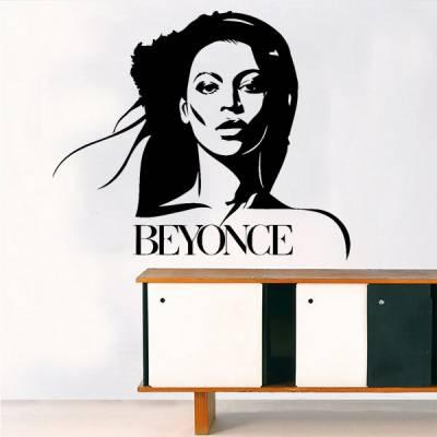 Adesivo de Parede Cantora Beyonce