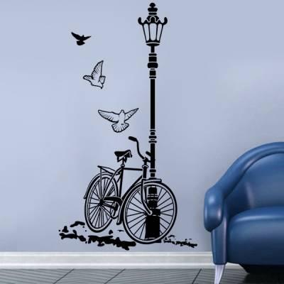 Adesivo de parede Bicicleta e Pássaros