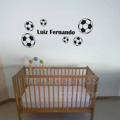 Cartela - Bolas de Futebol e Nome Personalizado teste