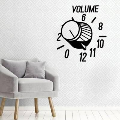 Adesivo De Parede Botão De Volume - Música