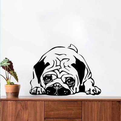 Adesivo De Parede Cãozinho Pug