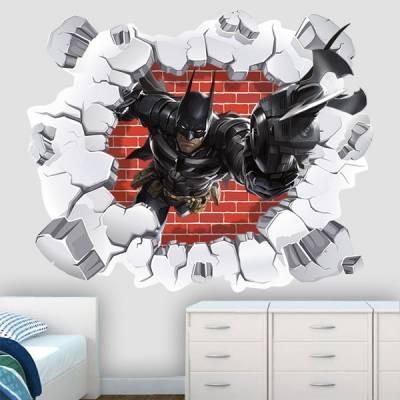 Adesivo de Parede Buraco Falso Batman