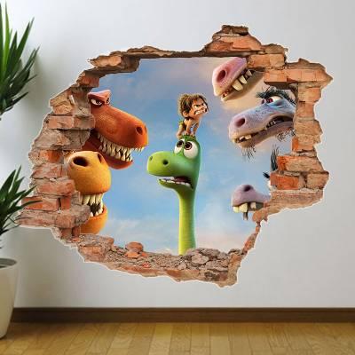 Adesivo de Parede Buraco Falso O Bom Dinossauro 2