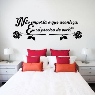 Adesivo de parede Cabeceira Frase Romantica