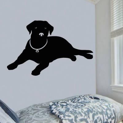 Adesivo De Parede Cachorro Labrador Deitado
