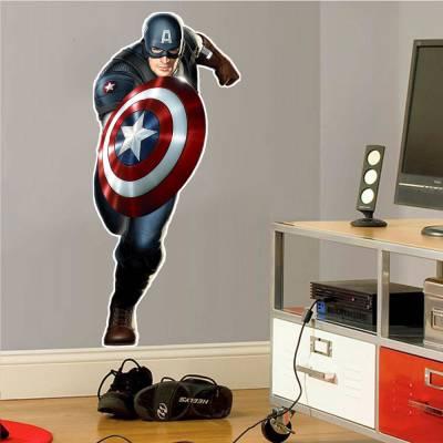 Adesivo De Parede Marvel Capitão América 03