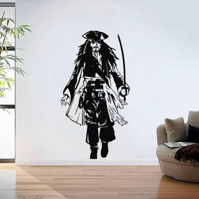 Adesivo De Parede Jack Sparrow