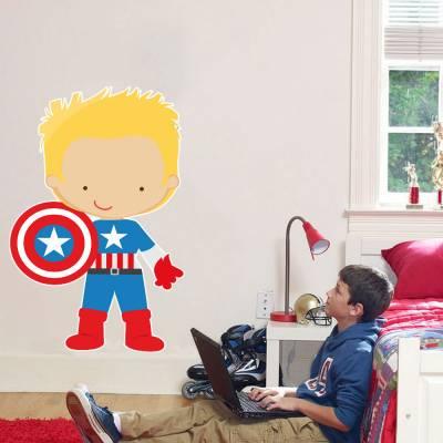 Adesivo De Parede Marvel Capitão América 04