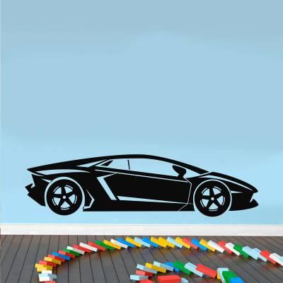 Adesivo De Parede Carro Lamborghini Horizontal