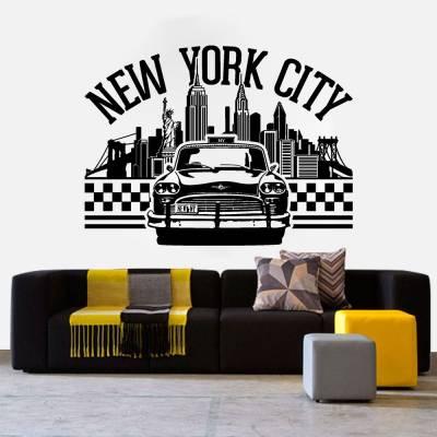 Adesivo De Parede Carro New York City