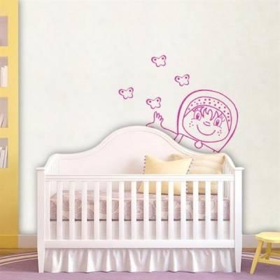 Kit de Adesivos Decorativo para Quarto Infantil Menina com Borboletas 2