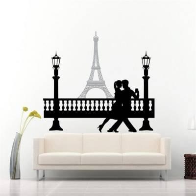 Adesivo de Parede Casal Dançando em Paris