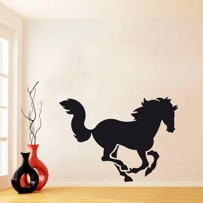 Adesivo De Parede Animais Silhueta Cavalo