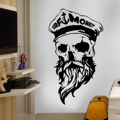Adesivo De Parede Diversos Caveira Pirata