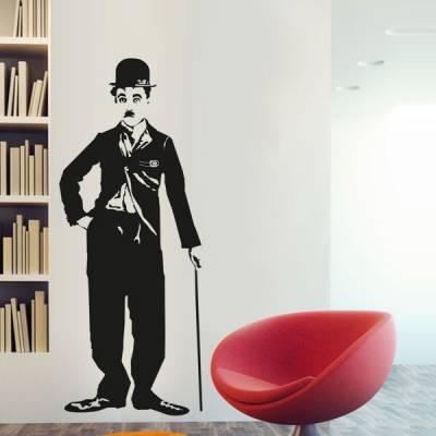 Adesivo decorativo de parede Charlie Chaplin 1