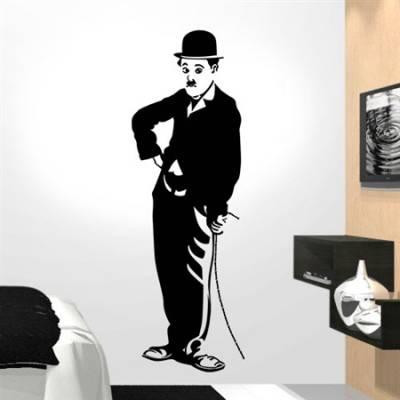 Adesivo de Parede Charlie Chaplin - O Vagabundo