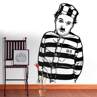 Adesivo de Parede Charlie Chaplin Prisioneiro