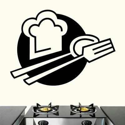 Adesivo de Parede Para Cozinha Chefe De Cozinha