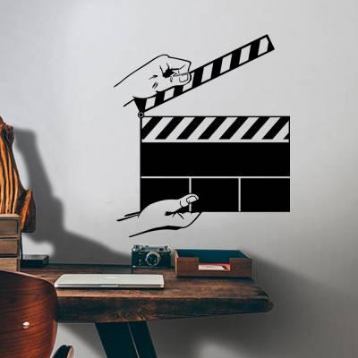Adesivo De Parede Claquete Cinema