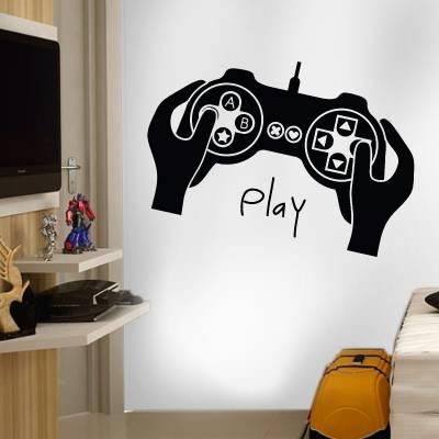 Adesivo De Parede Games Controle Play