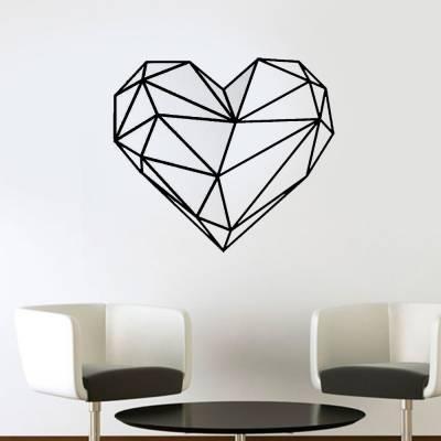 Adesivo De Parede Coração Em Formas Geométricas