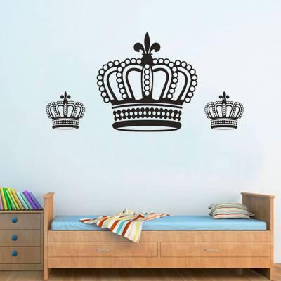 Adesivo De Parede Coroa Rainha Perolada