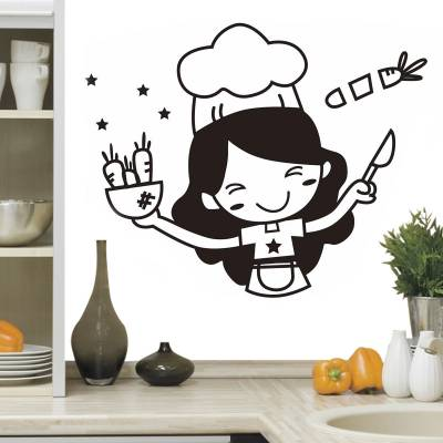Adesivo De Parede Chefe de Cozinha Feliz