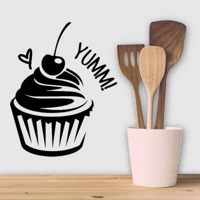 Adesivo De Parede Cozinha Cupcake Yumm