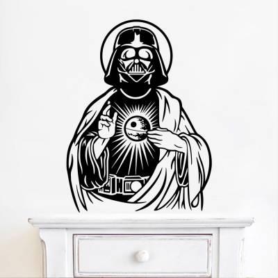 Adesivo De Parede Darth Vader Paródia