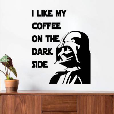 Adesivo De Parede Star Wars Like Coffe
