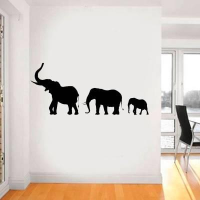 Adesivo De Parede Família De Elefantes Marchando
