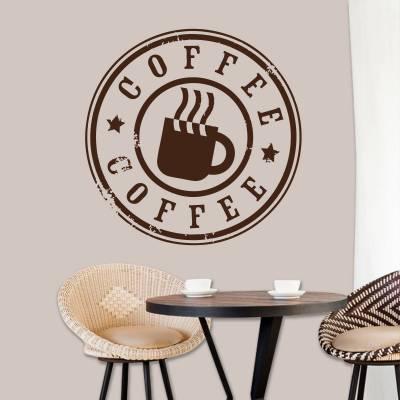 Adesivo De Parede Cozinha Café Coffe