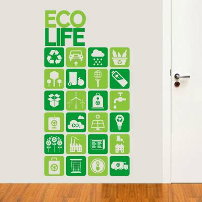Adesivo De Parede Diversos Natureza Eco Life
