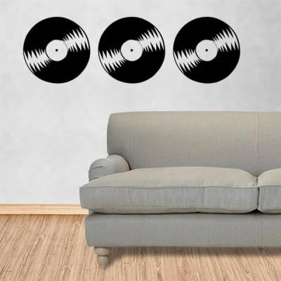 Adesivo de parede discos de vinil 3