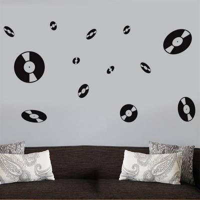 Adesivo de parede discos de vinil 4