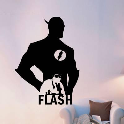 Adesivo De Parede Herói Flash Barry Allen Cientista