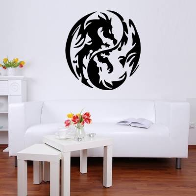 Adesivo de Parede Dragão yin yang