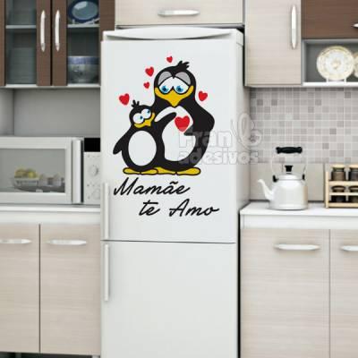Adesivo decorativo de geladeira Mamãe te amo!!!
