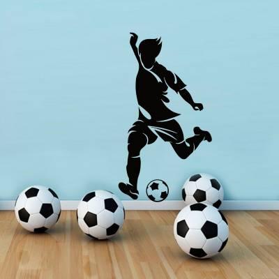 Adesivo de Parede Esporte Jogador de Futebol
