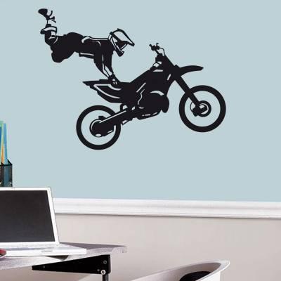 Adesivo de Parede Esporte Moto Motocross