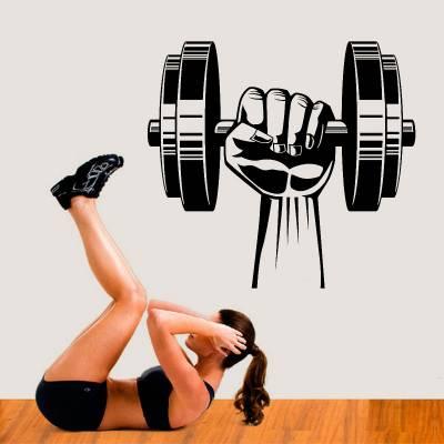 Adesivo De Parede Musculação Levantamento De Peso