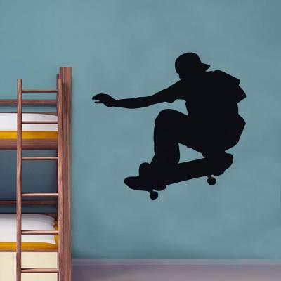 Adesivo De Parede Esportes Skate Skatista