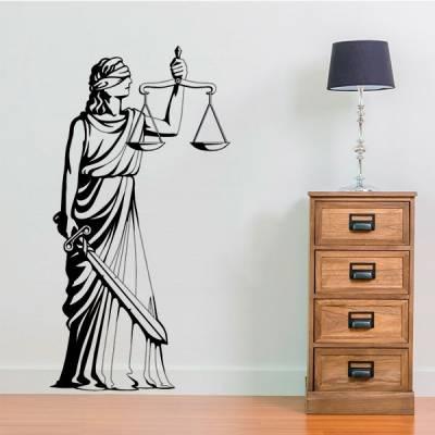 Adesivo de Parede Estatua da Justiça