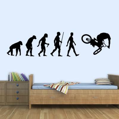 Adesivo de Parede Evolução do Homem BMX